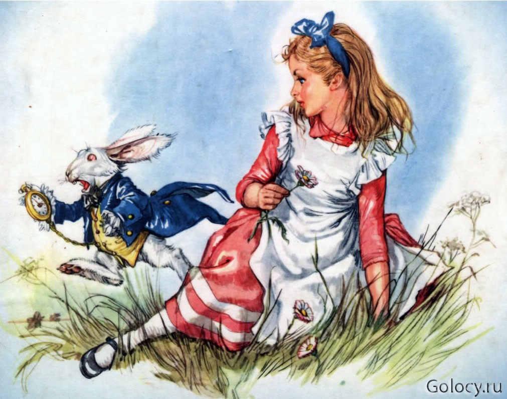 из мультика Алиса в стране чудес