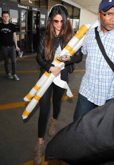 Selena Gomez seen at LAX